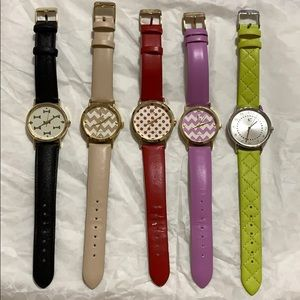 Set of 5 Charming Charlie Watches